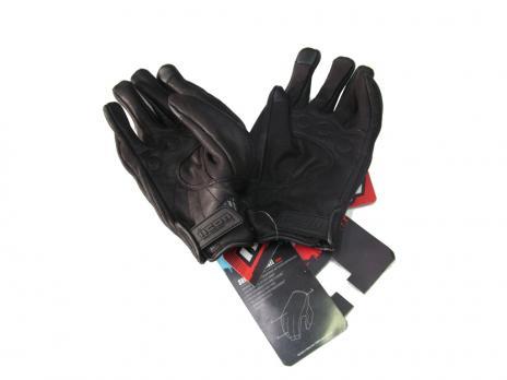 Перчатки кожаные черные icon
