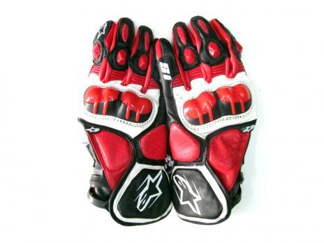 Перчатки Alpinestars S1 красные кож.