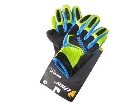 Перчатки THOR Spectrum glover синезелёные