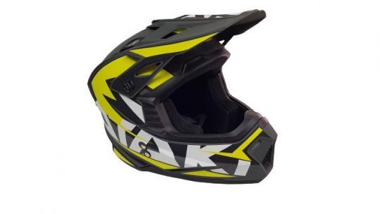 Шлем кроссовый Ataki 2021 желтый с визором